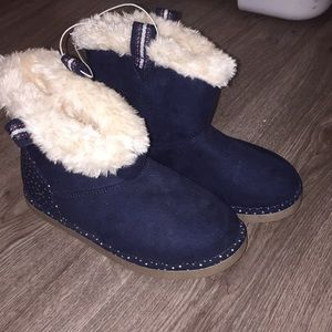 brand new blue boots